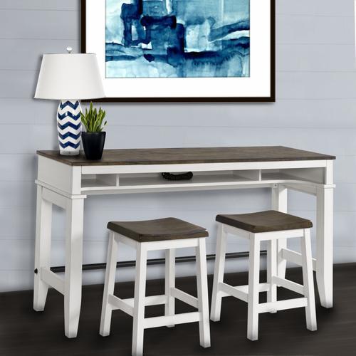 Kona Sofa Bar Table  Gray and White
