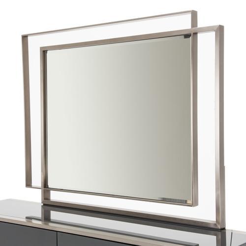 Metal Storage Console- Dresser W/mirror