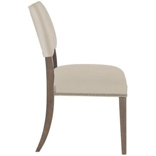 Gallery - Moore Side Chair in Portobello Finishes Available Cocoa (CN1) Portobello (PN1) Smoke (SN1) Nailhead Finish Shown #13 Bright Nickel
