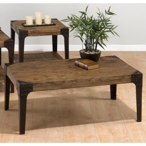 Rectangle Cocktail Table W/ Industrial Style Legs