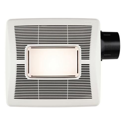 Flex Series 110 CFM Ceiling Roomside Installation Bathroom Exhaust Fan with Light