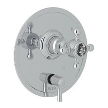 Pressure Balance Trim with Diverter - Polished Chrome with Crystal Cross Handle
