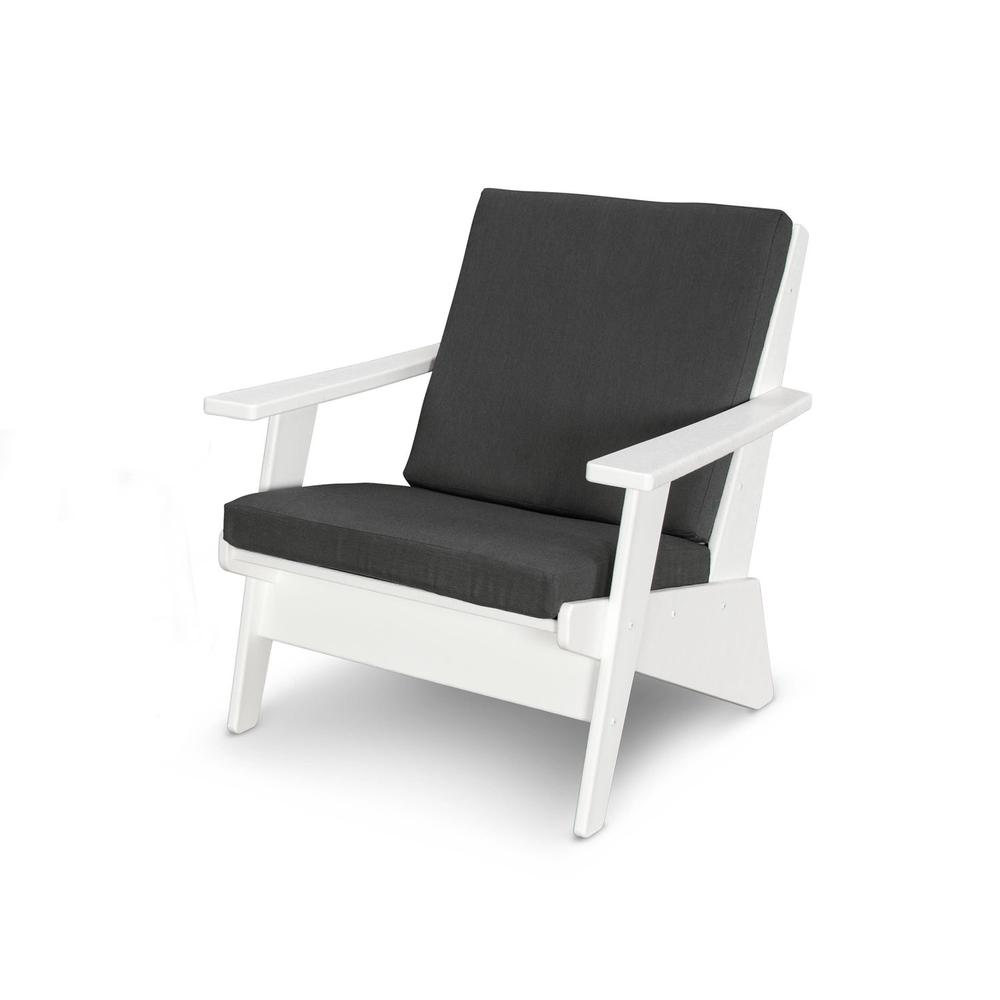 White & Spectrum Carbon Riviera Modern Lounge Chair