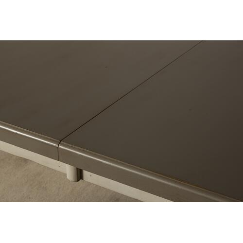 Clarion Rectangle Dining Table - Distressed Gray Top With Sea White Base