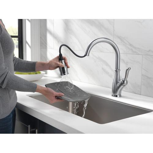 Arctic Stainless Single Handle Pull-Down Kitchen Faucet with ShieldSpray ® Technology