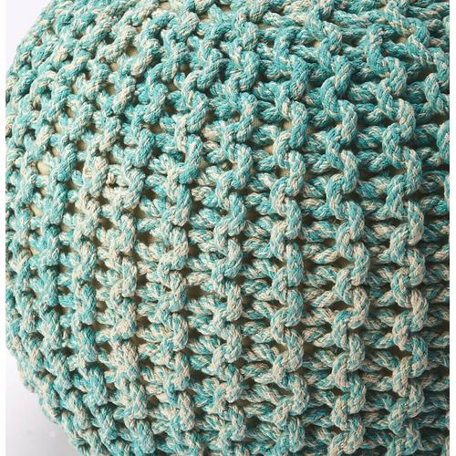 Butler Specialty Company - A beautiful room accent, this woven pouffe is ideal for extra seating where space is limited. Resembling a pincushion, it features a 100% wool felt outer shell and high density thermocol beans inside for comfort and durability.