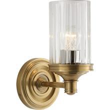 View Product - Alexa Hampton Ava 1 Light 5 inch Hand-Rubbed Antique Brass Single Sconce Wall Light
