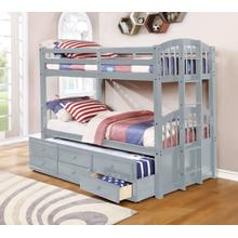 Menlo Twin over Twin Bunkbed, Gray