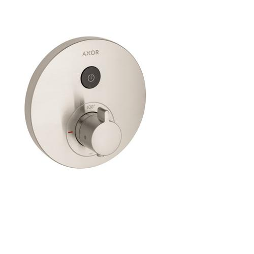Brushed Nickel Thermostatic Trim Round for 1 Function