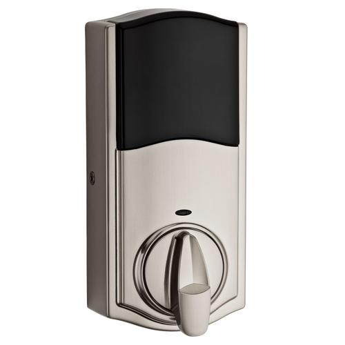 Kwikset - 916 SmartCode Traditional Electronic Deadbolt with Z-Wave Technology - Satin Nickel