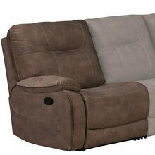 View Product - COOPER - SHADOW BROWN Manual Left Arm Facing Recliner