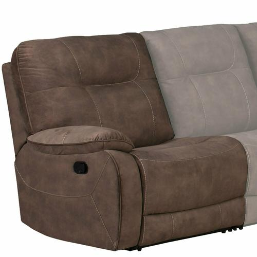 Parker House - COOPER - SHADOW BROWN Manual Left Arm Facing Recliner