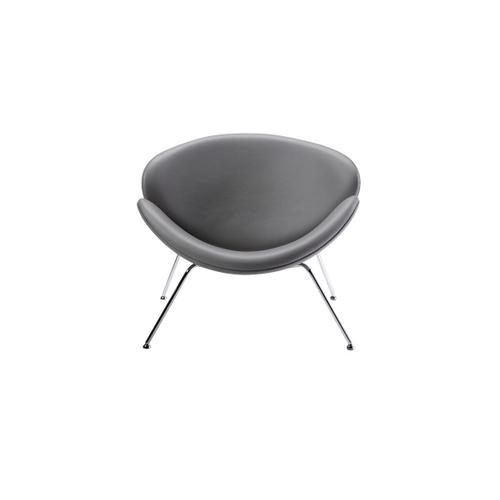 Gallery - Modrest Anais Contemporary Grey Leatherette Accent Chair