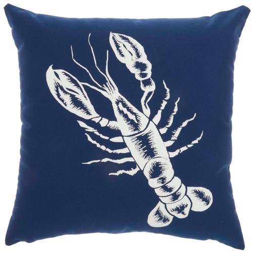 "Outdoor Pillows L0032 Navy 18"" X 18"" Throw Pillow"