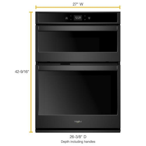 Whirlpool - 5.7 cu. ft. Smart Combination Wall Oven with Touchscreen