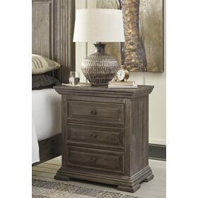Wyndahl Three Drawer Night Stand Rustic Brown