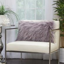 "Faux Fur Bj101 Lavender 14"" X 24"" Lumbar Pillow"