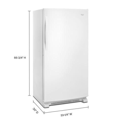 Whirlpool - 20 cu. ft. Upright Freezer with Temperature Alarm