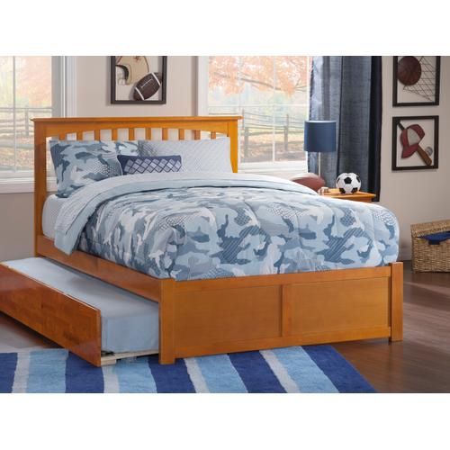 Mission Full Flat Panel Foot Board with Urban Trundle Caramel Latte