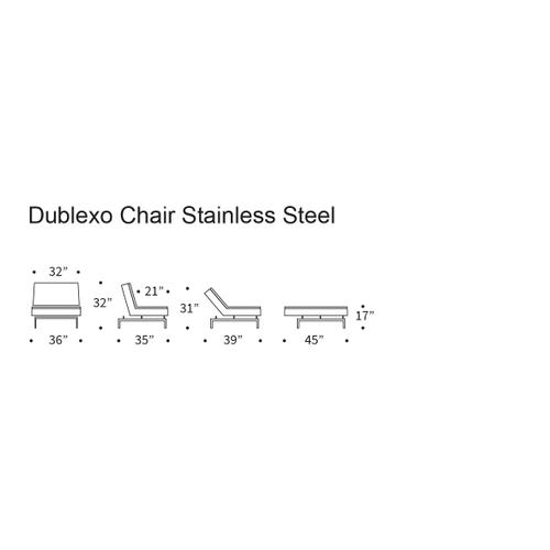Product Image - DUBLEXO CHAIR/SP CHAIR LEGS, STAINLESS STEEL/BLACK
