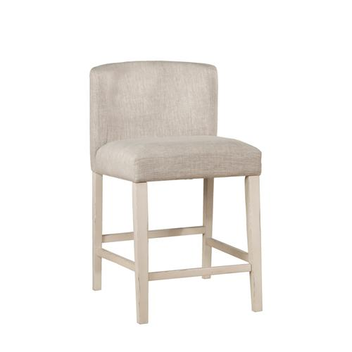 Hillsdale Furniture - Clarion 5-piece Round Counter Height Dining Set With Wing Arm Stools - Distressed Gray Top With Sea