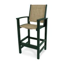 View Product - Coastal Bar Chair in Green / Burlap Sling