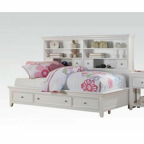 ACME Lacey Daybed w/Storage (Full) - 30595F - White