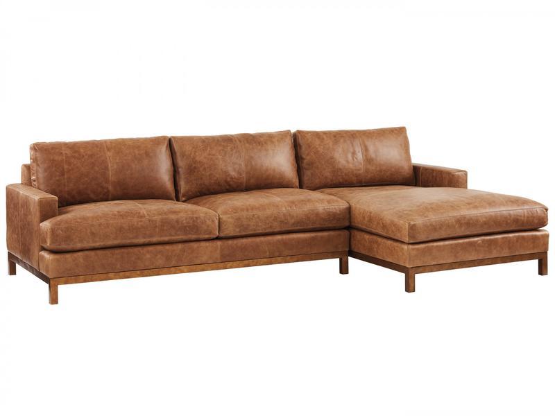Horizon Leather Sofa Chaise, Barclay Butera Sydney Sofa