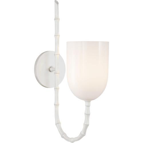 Visual Comfort - AERIN Edgemere 1 Light 5 inch Plaster White Wall Light