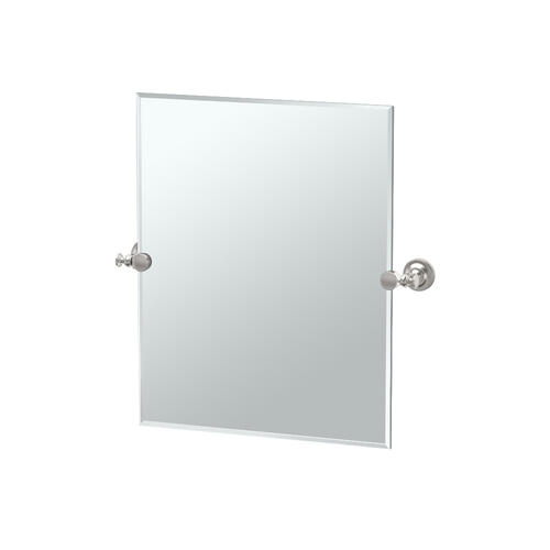 Tavern Rectangle Mirror in Satin Nickel