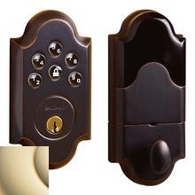 View Product - Lifetime Polished Brass Boulder Electronic Deadbolt