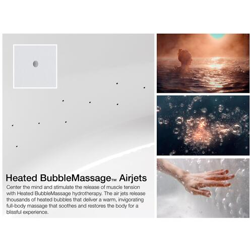 "Biscuit 66"" X 36"" Drop-in Heated Bubblemassage Air Bath With Bask Heated Surface"