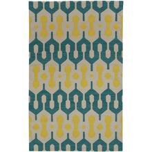 L'Alhambra Turquoise Leo Sun Flat Woven Rugs