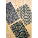 set of three blues and greens jute braided rugs Product Image