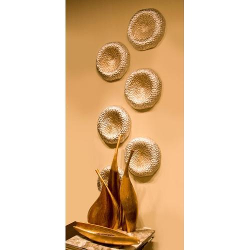 Howard Elliott - Champagne Aluminum Tray / Wall Decor - Small