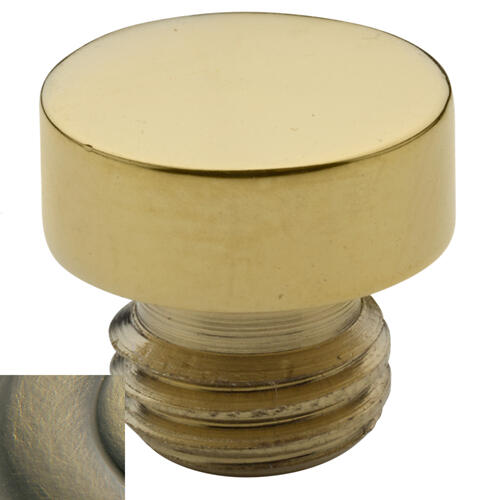 Baldwin - Satin Brass and Black Button Finial