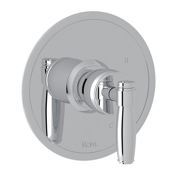 Polished Chrome Zephyr Pressure Balance Trim Without Diverter with Metal Lever Zephyr Series Only
