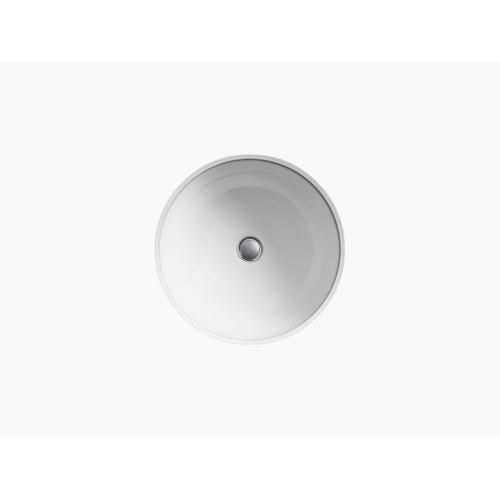 White Undermount Bathroom Sink