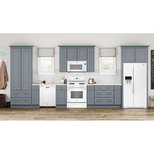 5.0 cu. ft. Freestanding Gas Range with Adjustable Self-Cleaning White