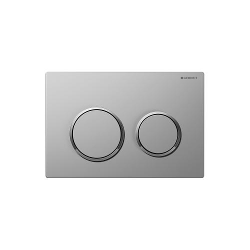 Omega20 Dual-flush plates for Omega series in-wall toilet systems Matte chrome with polished chrome accent NEW! Finish