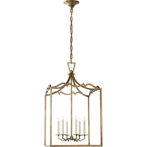 - E. F. Chapman Darlana 6 Light 22 inch Gilded Iron Foyer Pendant Ceiling Light