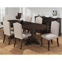 Grand Terrace Oval Dining Table- Top Only, Grand Terrace Oval Dining Table- Double Pedestal Base Only