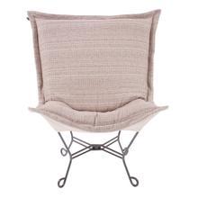See Details - Scroll Puff Chair Alton Blush