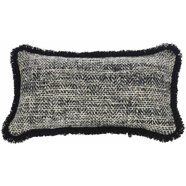 "See Details - Decorative Pillows Box Border Kidney w/Fringe (10"" x 22"")"