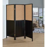 Traditional Black Three-panel Folding Screen Product Image