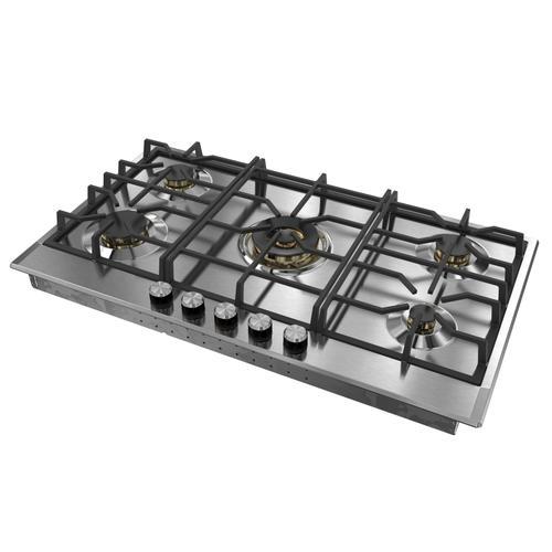 "Verona 36"" Designer Gas Cooktop-Brass Burners SS"