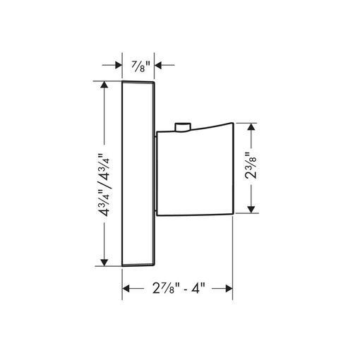 """Chrome Thermostatic Trim HighFlow, 5"""" x 5"""""""