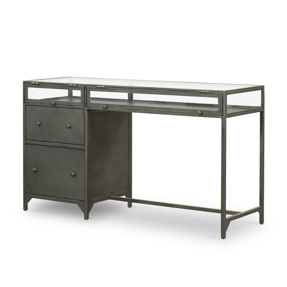 Gunmetal Finish Shadow Box Desk