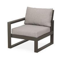 EDGE Modular Left Arm Chair in Vintage Coffee / Weathered Tweed