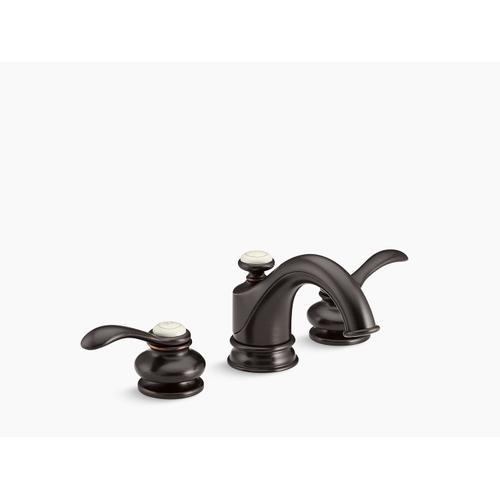 Oil-rubbed Bronze Widespread Bathroom Sink Faucet With Lever Handles